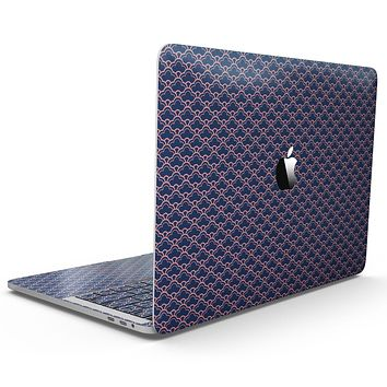 Coral and Navy Micro Cloud Pattern - MacBook Pro with Touch Bar Skin Kit