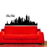 New York City Skyline Vinyl Wall Decal Sticker Graphic