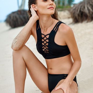 Onix High Neck Bikini Set