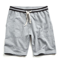 Mr. Porter Collaboration Tipped Sweatshort in Grey Mix