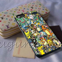 Pokemon Collage Cover - iPhone 4 4S iPhone 5 5S 5C and Samsung Galaxy S3 S4 S5 Case