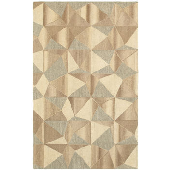 Oriental Weavers Infused 67004 Beige/ Grey Geometric Area Rug