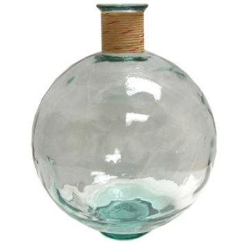 Clear Glass Pot Belly Vase with Raffia | Shop Hobby Lobby