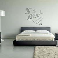 """Wall Art inspired by Picasso's """"War and Peace"""" vinyl wall decal - removable wall sticker for your minimalistic space decor"""