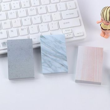 [XIROHO] 1pcs marble memo pad planner sticky note pad post it kawaii schedule marker sticker school supplies wholesale