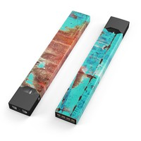 Skin Decal Kit for the Pax JUUL - Bright Turquise Rusted Surface
