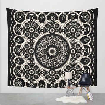 Lace Mandala Wall Tapestry by Lyle Hatch