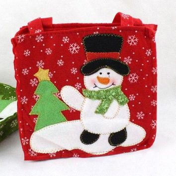 Chic Snowman Pattern Non-Woven Gift Bag Christmas Decoration
