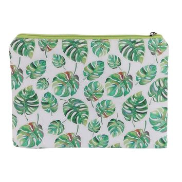 Leaf Print Vinyl Cluch Pouch Bag Accessory 16