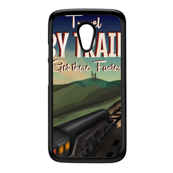 Travel by train Black Hard Plastic Case for Moto G2 by Nick Greenaway