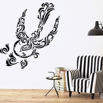 Wall Sticker stylistic image luxurious birds patterns Vinyl Decal Unique Gift (n543)