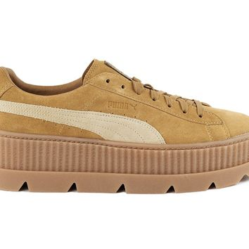 Women's Puma x Fenty Cleated Creeper Suede Golden Brown