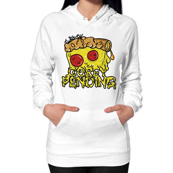 Official CoreyPending Twitch Shirt (LARGE GRAPHIC) Hoodie (on woman)