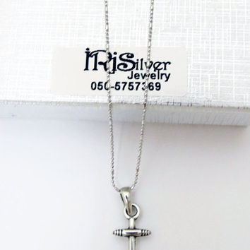 Men's Necklace - Men Anchor Necklace - Men Silver 925 Necklace - Men's Jewelry - Men's Gift - Men Jewelry - Men Necklace - Sailor Gift -Guys