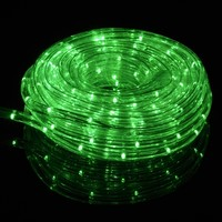 GREEN FAIRY LED OUTDOOR STRING ROPE LIGHT (33FT, CLEAR TUBE)