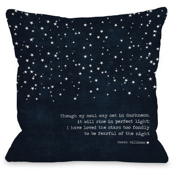 """Fearful Of The Night"" Outdoor Throw Pillow by Cheryl Overton, 16""x16"""