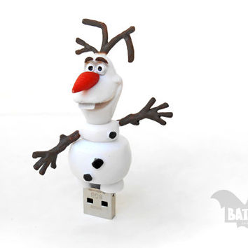 BAT™ 8 GB USB flash drive - Memory Stick - Olaf snowman character from Frozen movie - Geek Gadget - Disney toy - Sandisk usb - Children toy