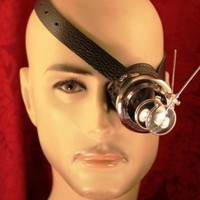 Steampunk Rogue Scientist Monocle with Magnifiers
