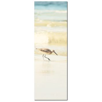 Nautical Canvas - Beach House Art - Nautical Home Decor - Bird Art - Tall Canvas - Seagull Photo - Large Canvas - Tan Blue - 20 x 60 Canvas