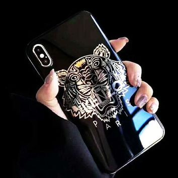 KENZO Tide brand classic tiger head hot stamping iPhone7p mobile phone case cover