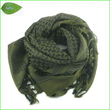 SCF03 Thickened Plus Military windproof Hijab Shemagh Tactical Desert Arabia Keffiyeh Scarf 100% Cotton Wargame Scarf Hat
