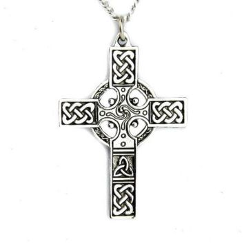ac spbest Celtic Cross Necklace Nordic Warrior Pendant Sheamus Jewelry