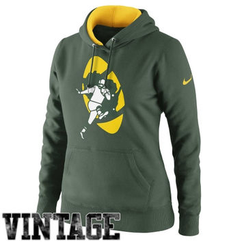 Nike Green Bay Packers Ladies Retro Tailgater Pullover Hoodie - Green
