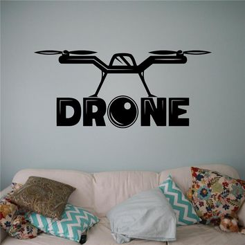 Neymar Quadcopter With Camera Wall Vinyl Decal Air Drone Sticker Aircraft Home Art Decor Ideas Interior Kids Room Design X102