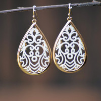 Cut It Out Earrings-Ivory