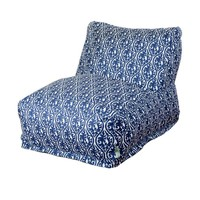 Printed Bean Bag Lounge Chair - Helix - Navy Blue