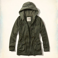 Girls Twill Twofer Parka | Girls Jackets & Outerwear | HollisterCo.com