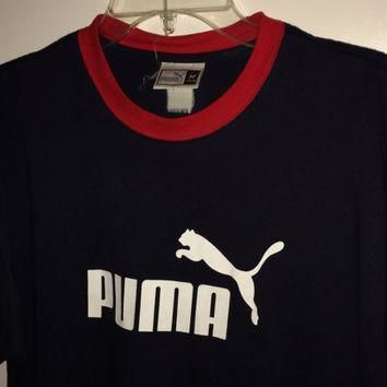sale vintage puma casual cotton shirt tops tee size medium free us shipping  number 1