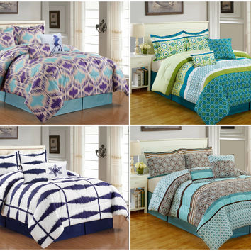Bibb Home 5 Piece Soft Premium Comforter Set - 4 Designs