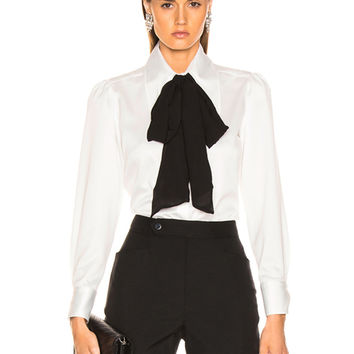 LAUREL & MULHOLLAND Nightingale Blouse in White | FWRD