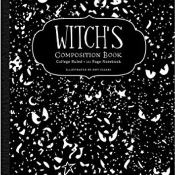 Witch's Composition Book: College Ruled 111 Page Notebook Paperback – February 14, 2017