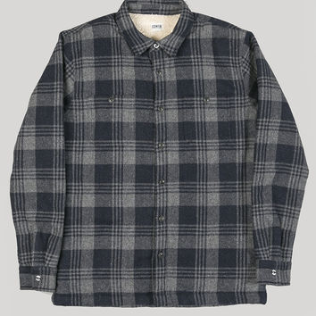 Edwin Labour Overshirt Navy/Grey