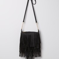 Burgundy Leather Fringe Cross Body | Crossbody Bags | rue21