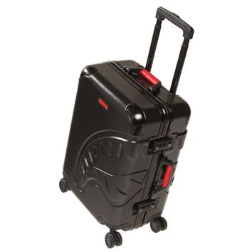 "Sprayground - 3D Shark 22"" Carry-on Luggage - Black"