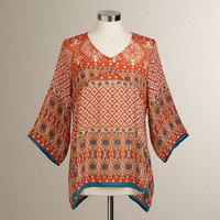 Red Ikat Bianca Top - World Market