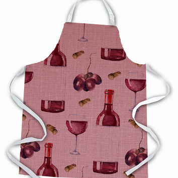 Red Wine on Linen Apron BB5195APRON