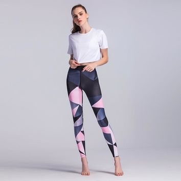 Geometric Print Fitness Yoga Pants