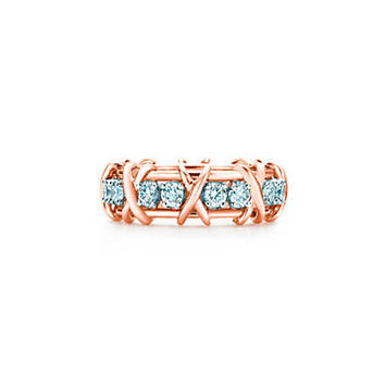Tiffany & Co. - Tiffany & Co. Schlumberger® Sixteen Stone ring in 18k rose gold with diamonds.
