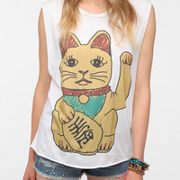 Blood Is The New Black Lucky Cat Muscle Tee