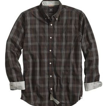 Dockers The Laundered Shirt, Classic Fit - Black Heather - Men's