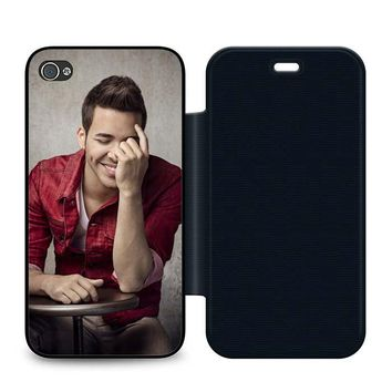 Prince Royce Cool Leather Wallet Flip Case iPhone 4 | 4S