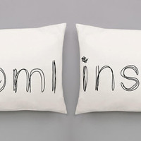 Tomlinson Scribbles Pillowcases - Tomlinson Pulled Screen Printed Pillow Case Set for Double or Queen-Sized Bed | Fan Made Cases
