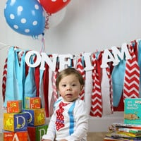 Dr Suess Birthday Boy Outfit, Baby Boy's 1st Birthday Outfit Dr Suess, Personalized Tie and Suspender Bodysuit with Leg Warmers
