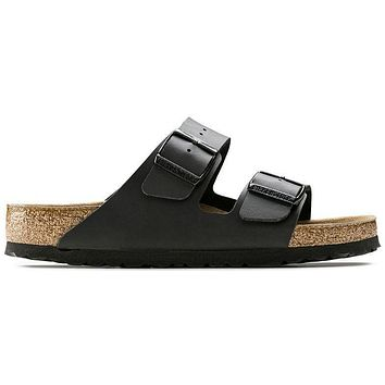 Birkenstock Arizona Soft Footbed Birko Flor Black 0551251/0551253 Sandals - Ready Stoc