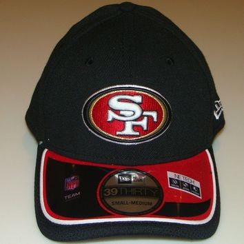 New Era Hat Cap NFL Football San Francisco 49ers Reverse 39THIRTY S/M Flex Fit