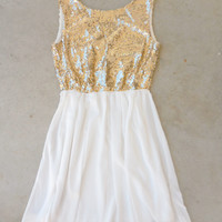 A Simple Sparkle Dress in Ivory [6712] - $44.20 : Vintage Inspired Clothing & Affordable Dresses, deloom | Modern. Vintage. Crafted.